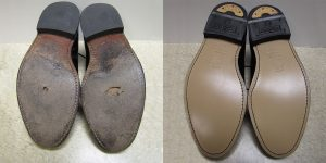 Shoe Repair Before and After by Foot Foundation
